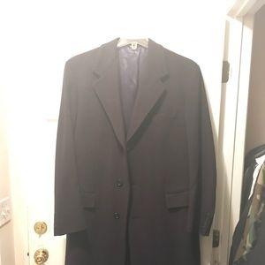 Bill Blass Men 100% Cashmere Long Trench Coat